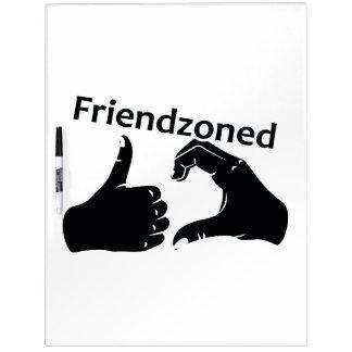 Illustration Friendzoned Hands Shape Dry-Erase Whiteboard
