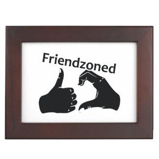 Illustration Friendzoned Hands Shape Keepsake Box