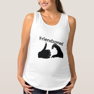 Illustration Friendzoned Hands Shape Maternity Singlet