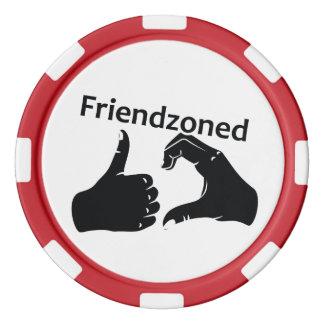 Illustration Friendzoned Hands Shape Poker Chips