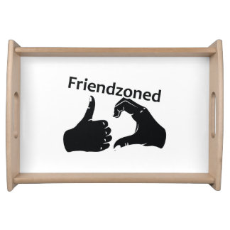 Illustration Friendzoned Hands Shape Serving Tray