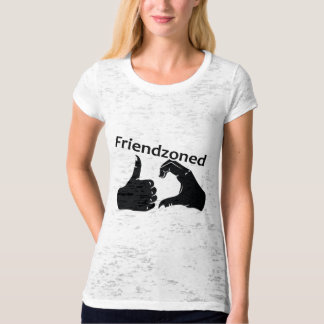 Illustration Friendzoned Hands Shape T-Shirt