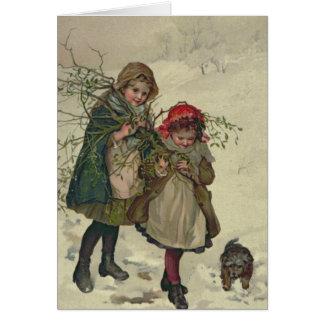 Illustration from Christmas Tree Fairy, pub. 1886 Card