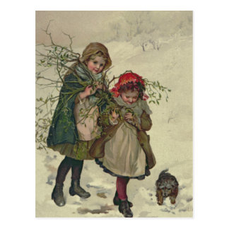 Illustration from Christmas Tree Fairy, pub. 1886 Postcard