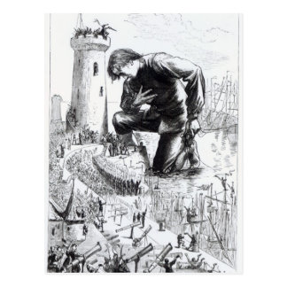Illustration from 'Gulliver's Travels' Postcard