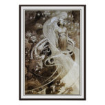 Illustration from Le Pater by Alphonse Mucha Poster