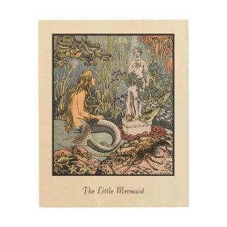 Illustration from the Little Mermaid Wood Wall Art Wood Print