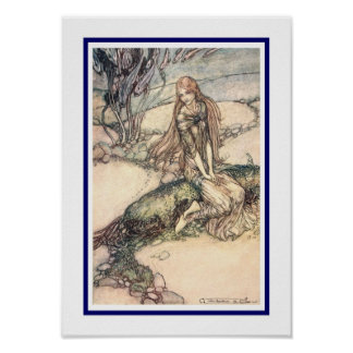 Illustration from Undine,(1909). Poster