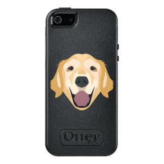 Illustration Golden Retriever OtterBox iPhone 5/5s/SE Case