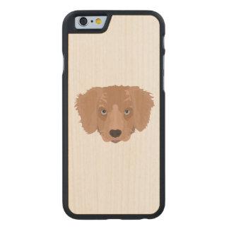 Illustration Golden Retriever Puppy Carved® Maple iPhone 6 Slim Case