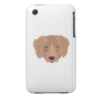 Illustration Golden Retriever Puppy Case-Mate iPhone 3 Cases