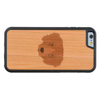 Illustration Golden Retriever Puppy Cherry iPhone 6 Bumper Case