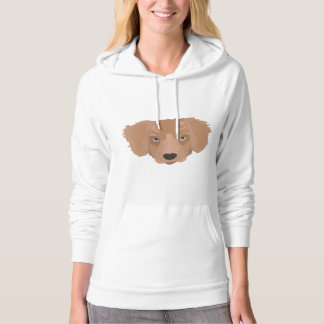 Illustration Golden Retriever Puppy Hoodie