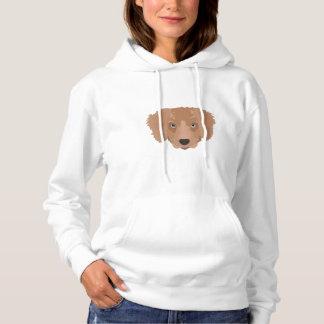 Illustration Golden Retriever Puppy Hoodie