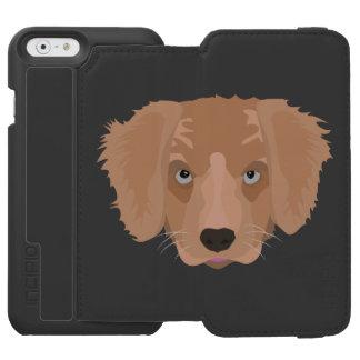Illustration Golden Retriever Puppy Incipio Watson™ iPhone 6 Wallet Case