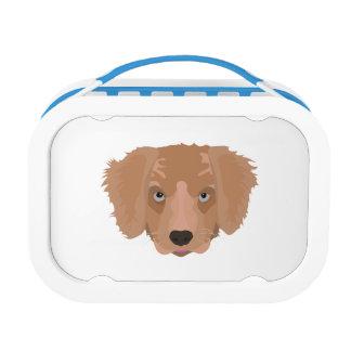 Illustration Golden Retriever Puppy Lunchbox