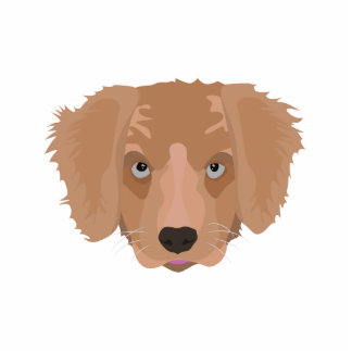 Illustration Golden Retriever Puppy Photo Sculpture Decoration
