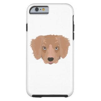 Illustration Golden Retriever Puppy Tough iPhone 6 Case