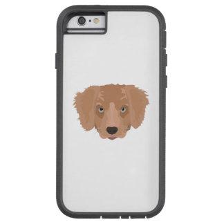 Illustration Golden Retriever Puppy Tough Xtreme iPhone 6 Case