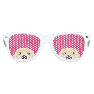 Illustration Golden Retriver with pink background Kids Sunglasses