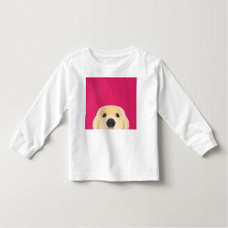 Illustration Golden Retriver with pink background Toddler T-Shirt