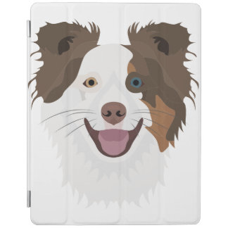 Illustration happy dogs face Border Collie iPad Cover