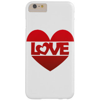 Illustration Heart with lettering LOVE in red Barely There iPhone 6 Plus Case