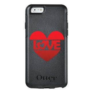 Illustration Heart with lettering LOVE in red OtterBox iPhone 6/6s Case