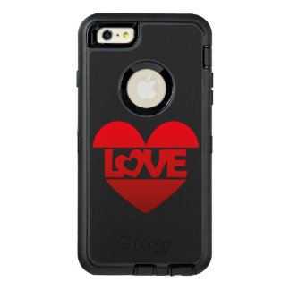 Illustration Heart with lettering LOVE in red OtterBox iPhone 6/6s Plus Case
