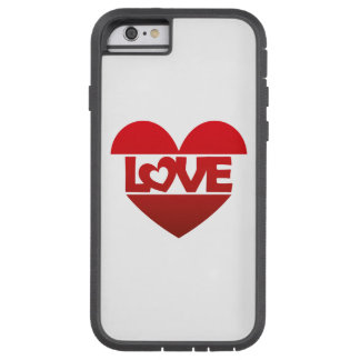 Illustration Heart with lettering LOVE in red Tough Xtreme iPhone 6 Case