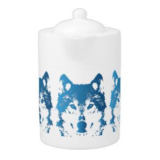Illustration Ice Blue Wolf
