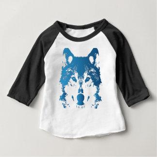 Illustration Ice Blue Wolf Baby T-Shirt