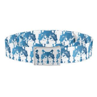 Illustration Ice Blue Wolf Belt