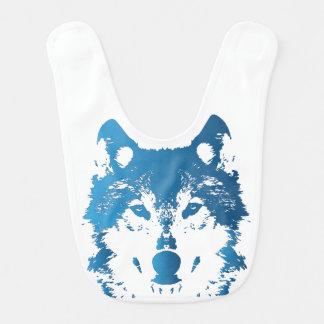 Illustration Ice Blue Wolf Bib