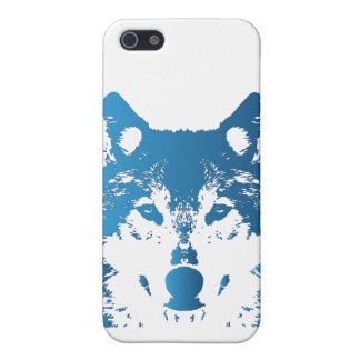 Illustration Ice Blue Wolf Cover For iPhone 5/5S