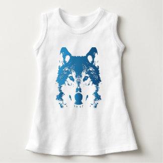 Illustration Ice Blue Wolf Dress