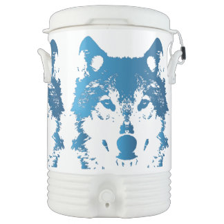 Illustration Ice Blue Wolf Drinks Cooler