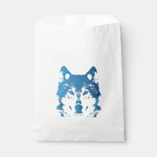 Illustration Ice Blue Wolf Favour Bag