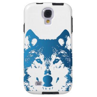 Illustration Ice Blue Wolf Galaxy S4 Case