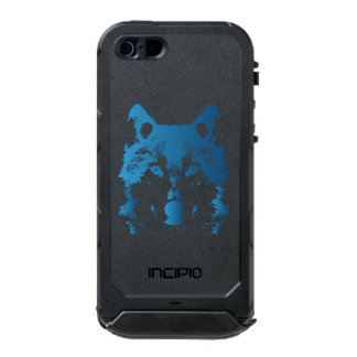 Illustration Ice Blue Wolf Incipio ATLAS ID™ iPhone 5 Case