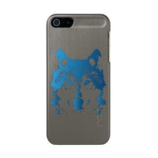 Illustration Ice Blue Wolf Incipio Feather® Shine iPhone 5 Case