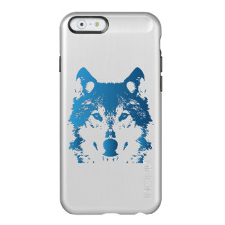 Illustration Ice Blue Wolf Incipio Feather® Shine iPhone 6 Case
