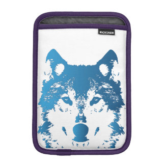Illustration Ice Blue Wolf iPad Mini Sleeve