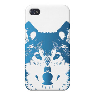 Illustration Ice Blue Wolf iPhone 4/4S Cover