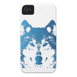 Illustration Ice Blue Wolf iPhone 4 Case-Mate Case