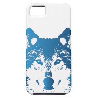 Illustration Ice Blue Wolf iPhone 5 Case