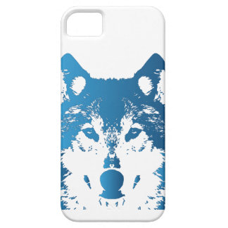 Illustration Ice Blue Wolf iPhone 5 Cover