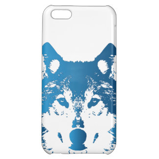Illustration Ice Blue Wolf iPhone 5C Covers
