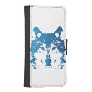 Illustration Ice Blue Wolf iPhone SE/5/5s Wallet Case