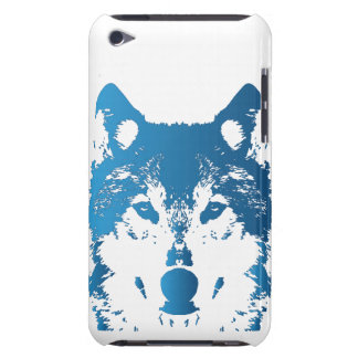 Illustration Ice Blue Wolf iPod Case-Mate Case